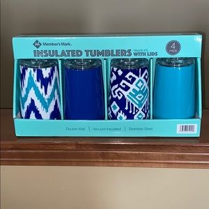 Members Mark 4 Insulated Tumblers 16oz with lid!